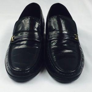 Florsheim Comfortech Black Dress Loafer Shoes 7.5